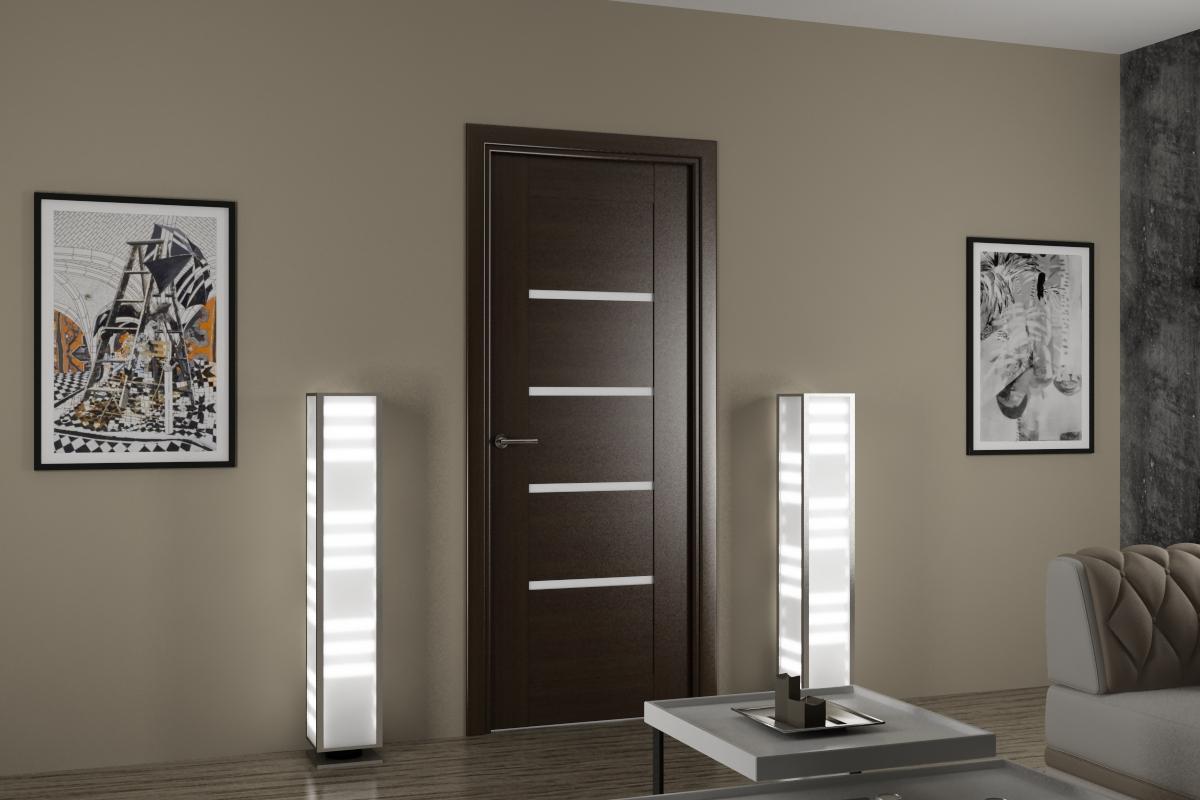 Дверь из экошпона в стиле хай-тек