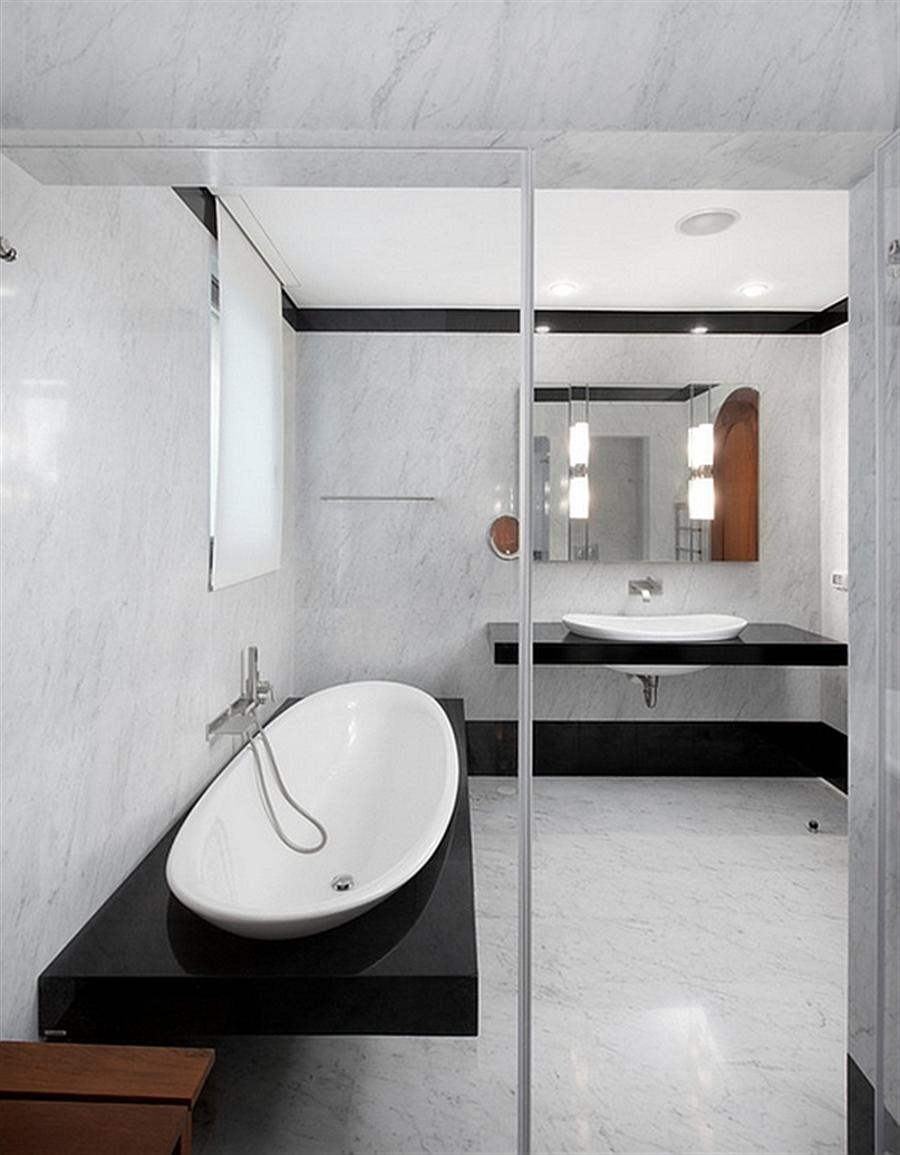 Овальная ванна в стиле хай-тек
