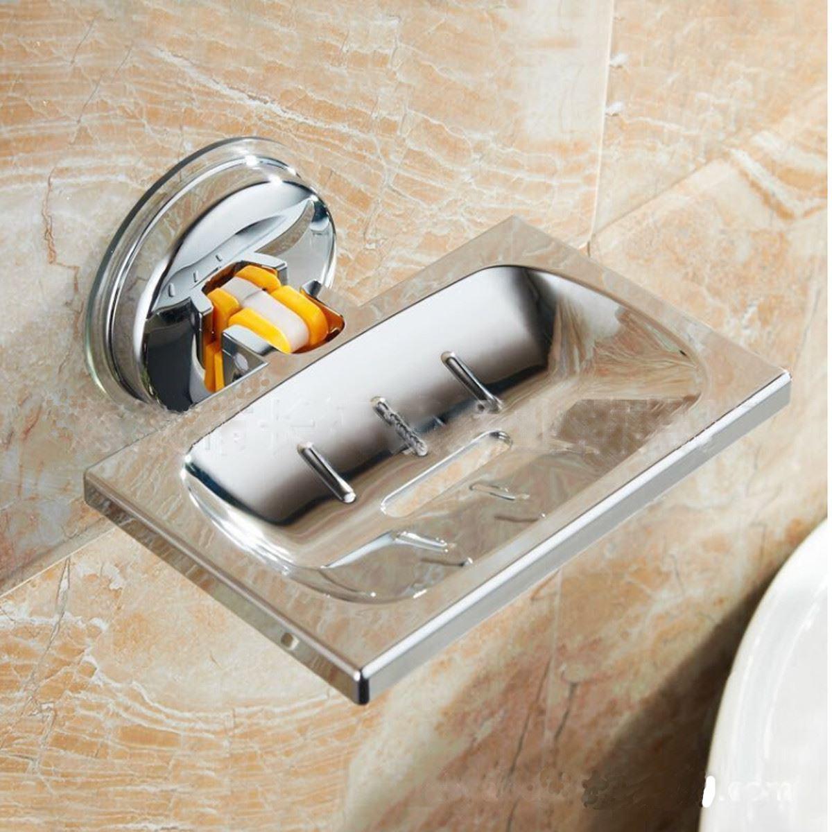 Хромированная мыльница для ванной