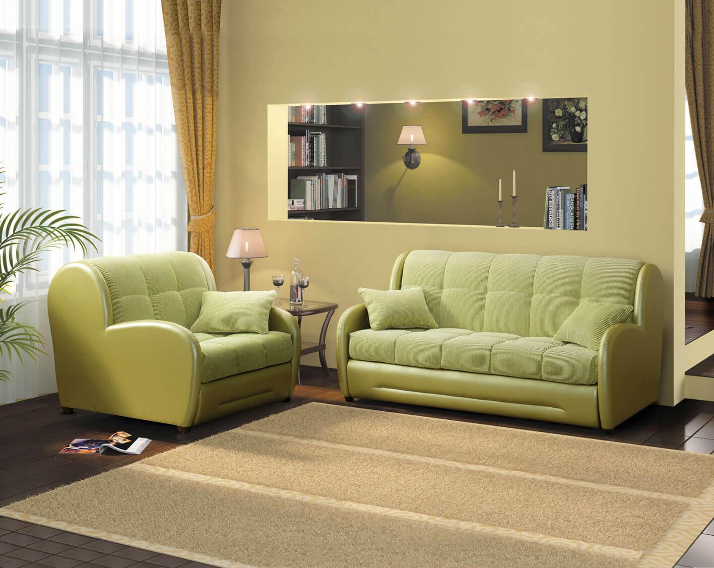 Выкатной диван в интерьере