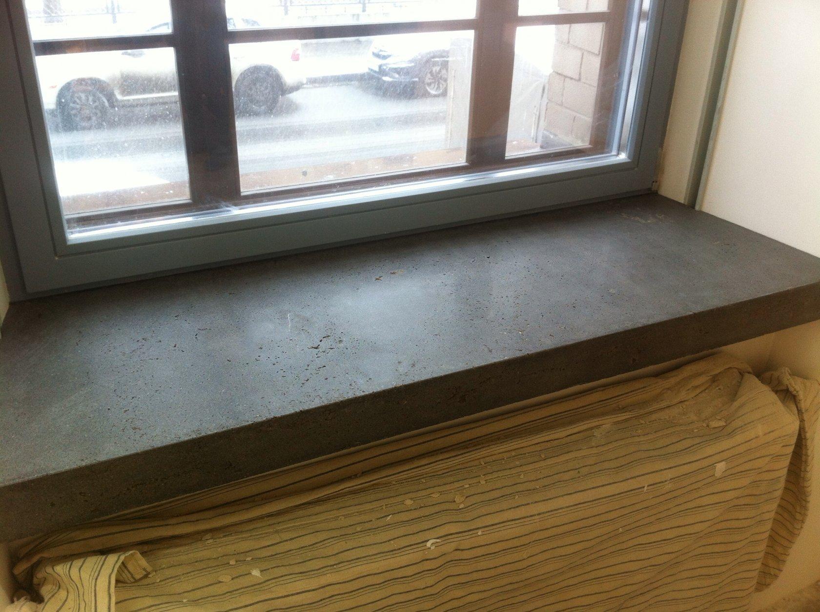 Подоконник из бетона