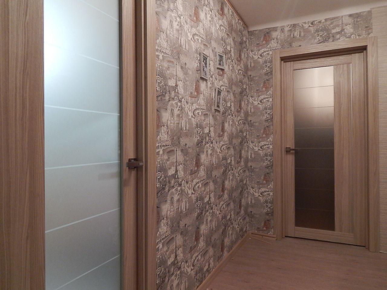 Дверь из экошпона цвета капучино