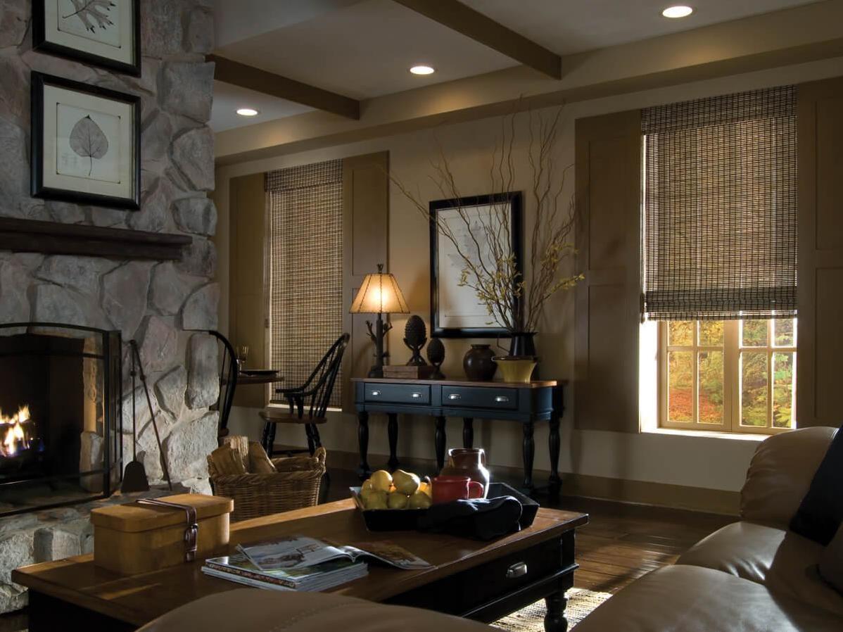 Бамбуковые шторы в колониальном стиле
