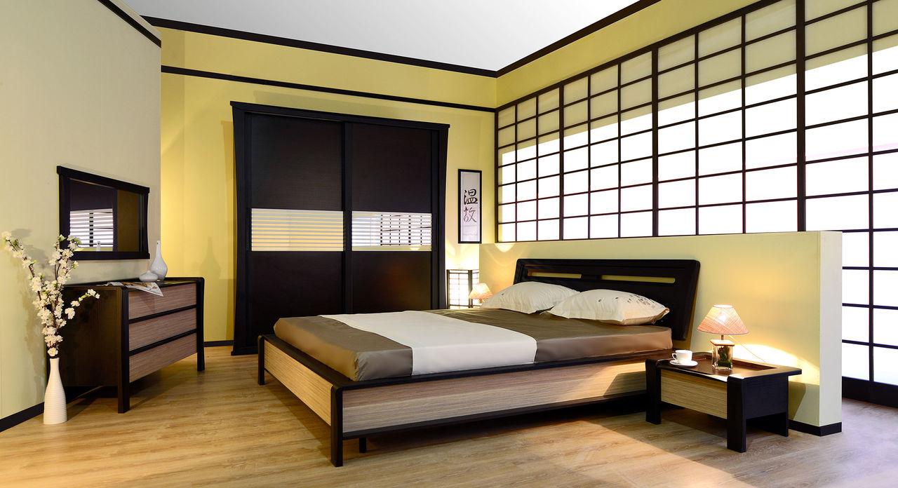 Комод цвета венге в спальне