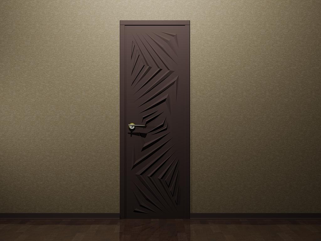 Коричневая 3D дверь