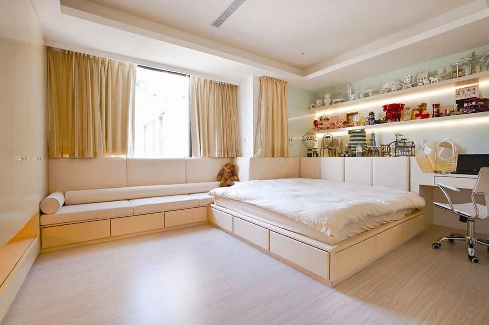 Угловая модульная кровать