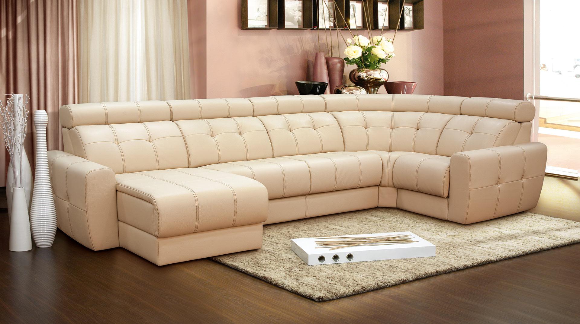 Кожаный диван 2019