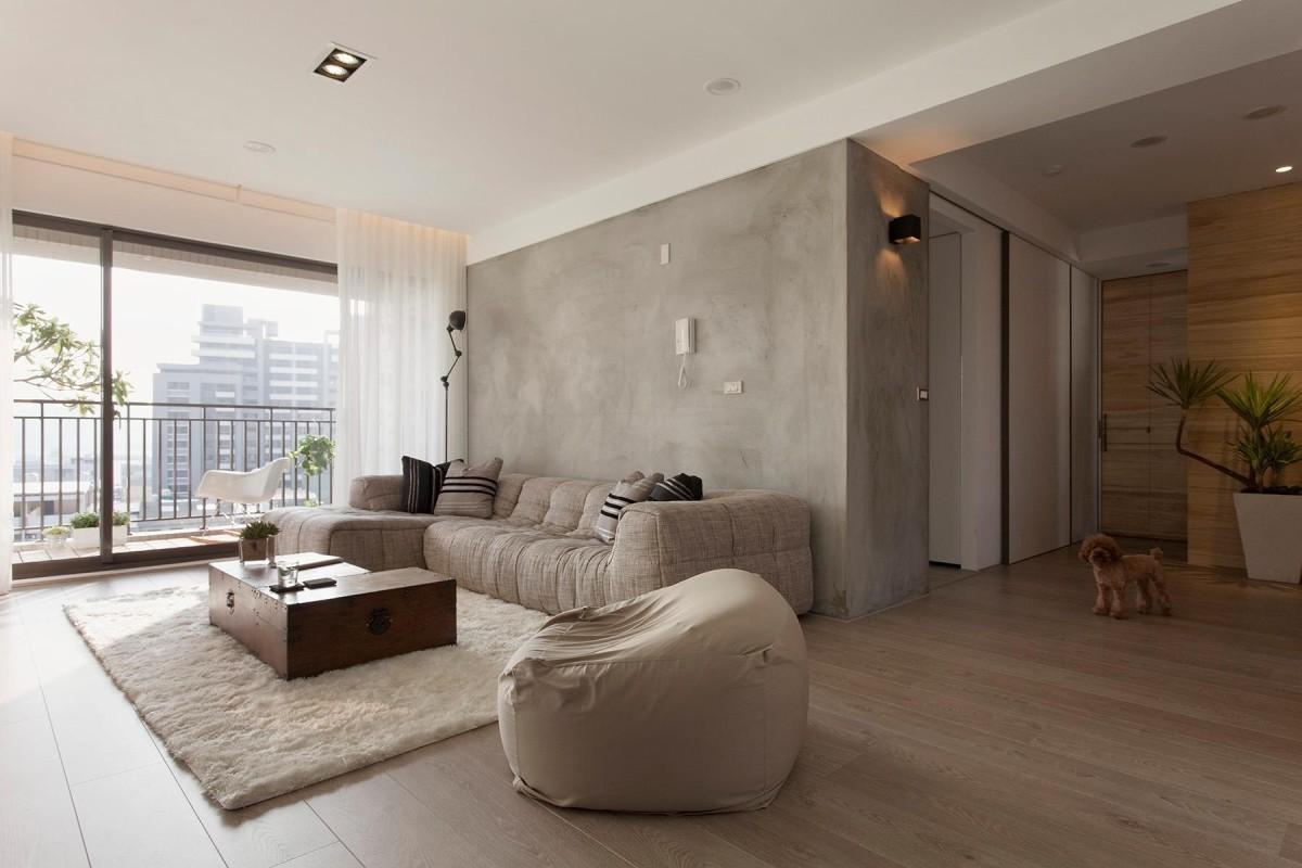 Бескаркасный диван в интерьере квартиры