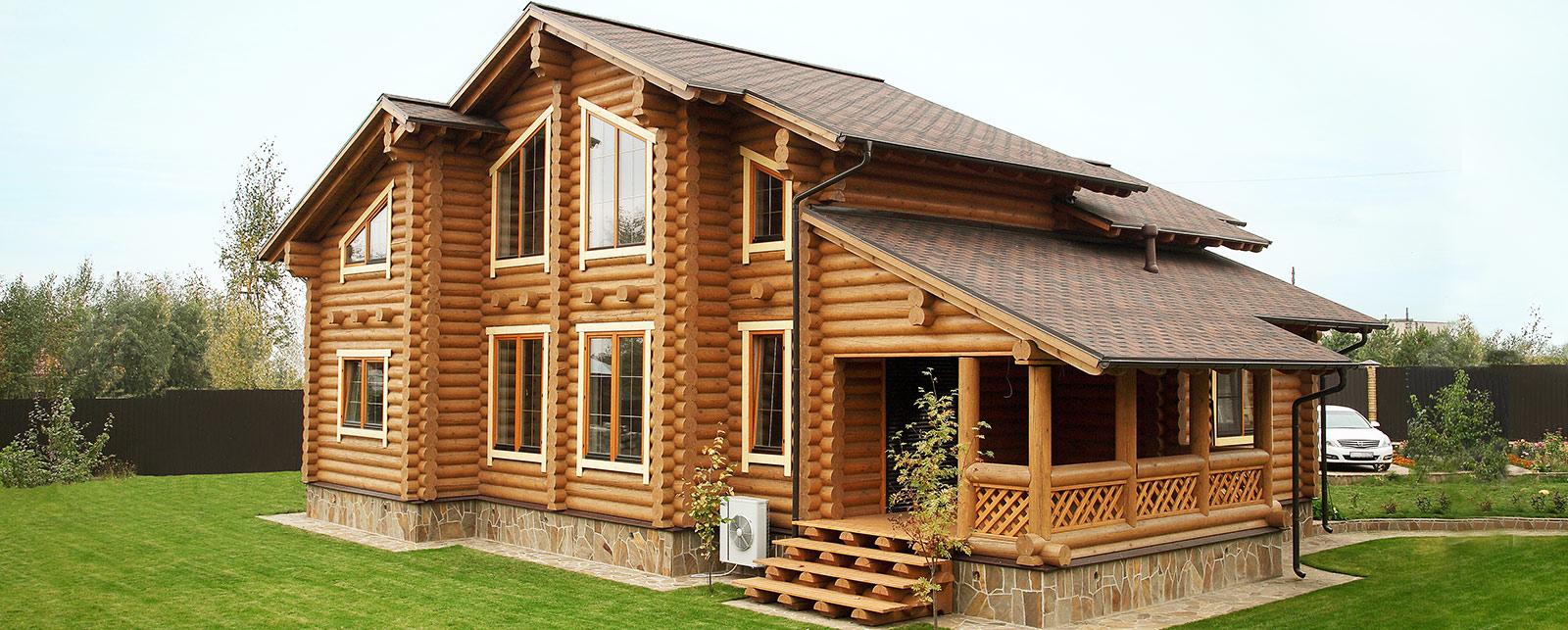 Дом из бревна с мансардой
