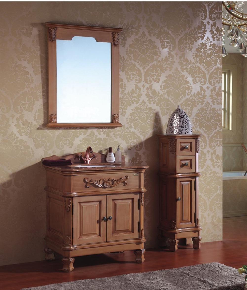 Шкаф для ванной из массива