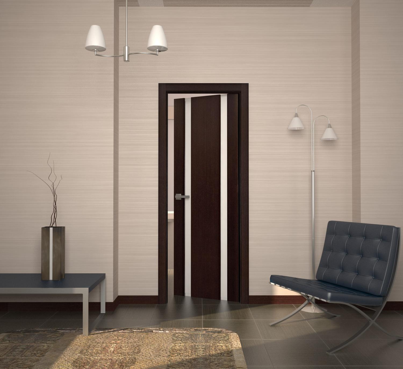 Дверь венге с матовым стеклом