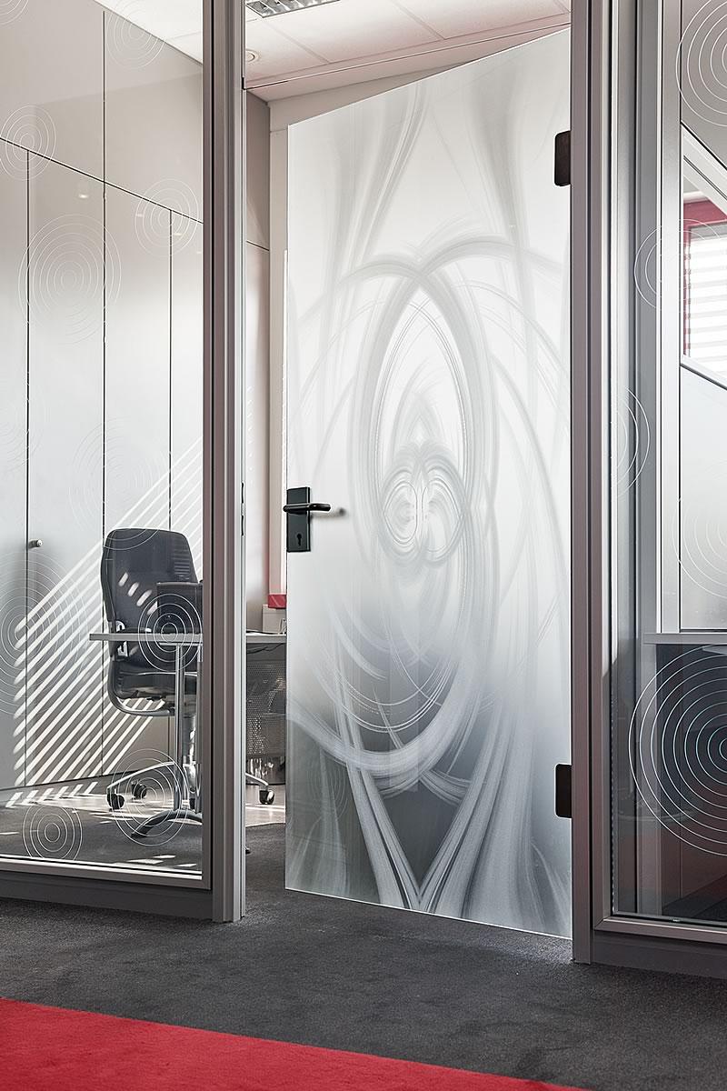 3D дверь с матовым стеклом