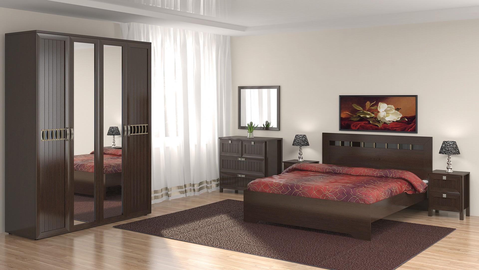 Мебель венге для спальни