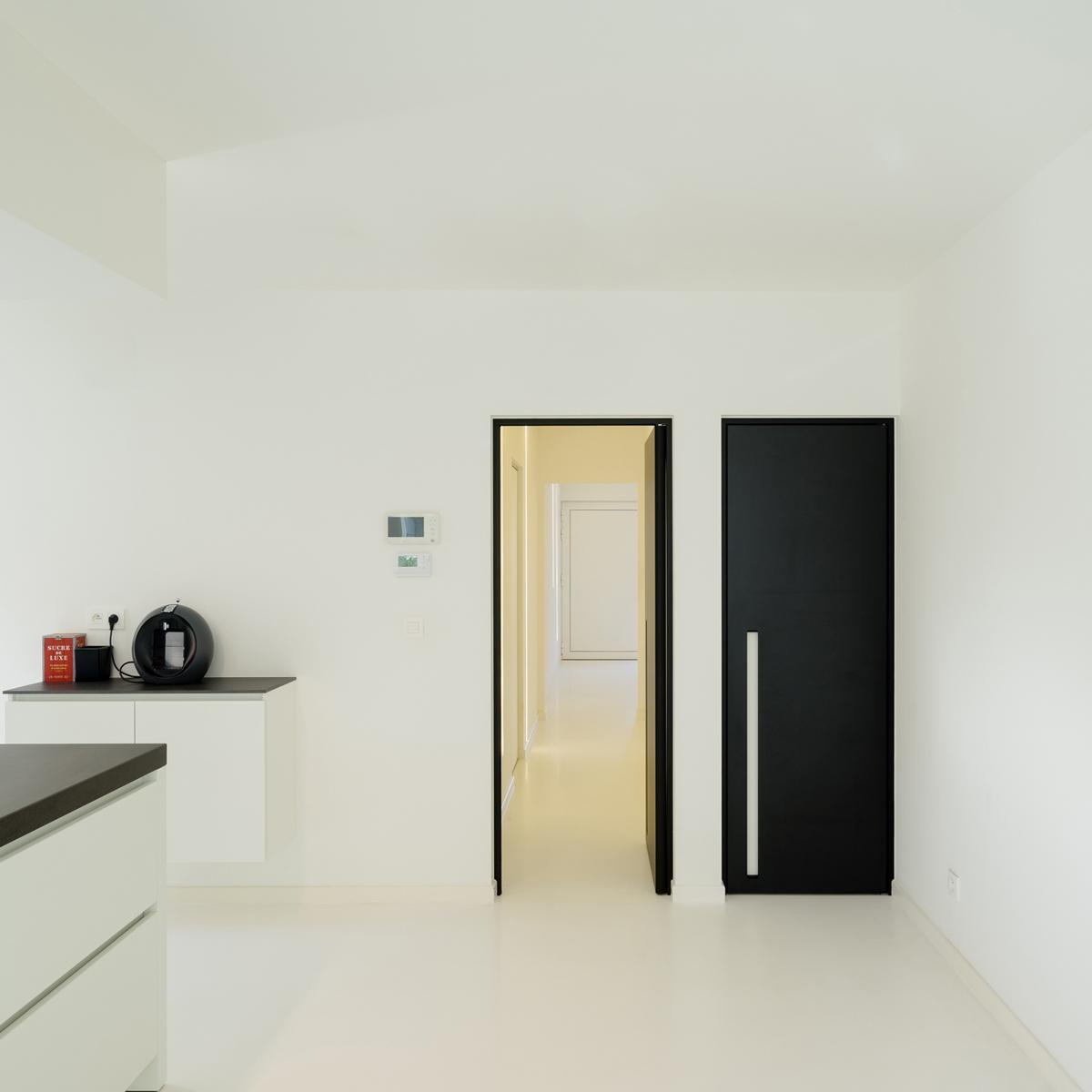 Дверь венге в минималистичном стиле