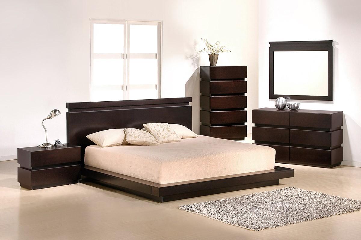 Спальня венге в стиле минимализм
