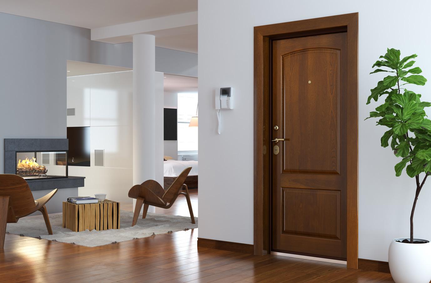 Классическая дверь в современном интерьере