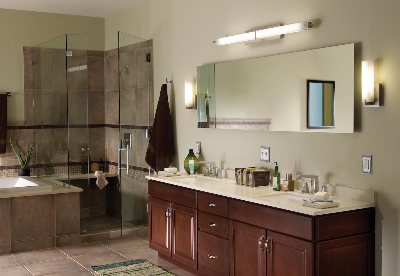 Ванная в стиле модерн с подсветкой