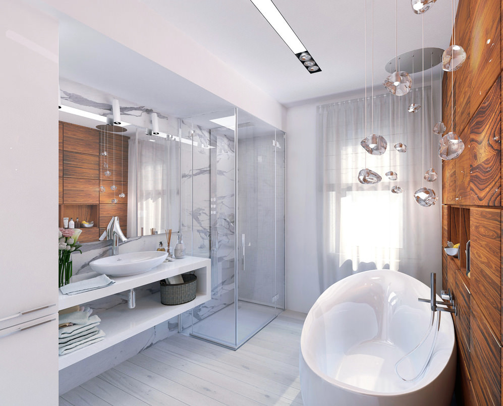 Овальная ванна в стиле модерн
