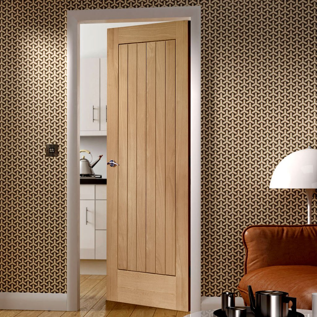 Дубовая дверь в стиле модерн