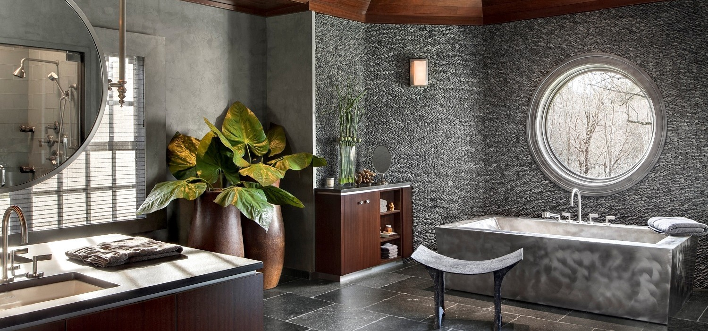 Прямоугольная ванна в стиле модерн