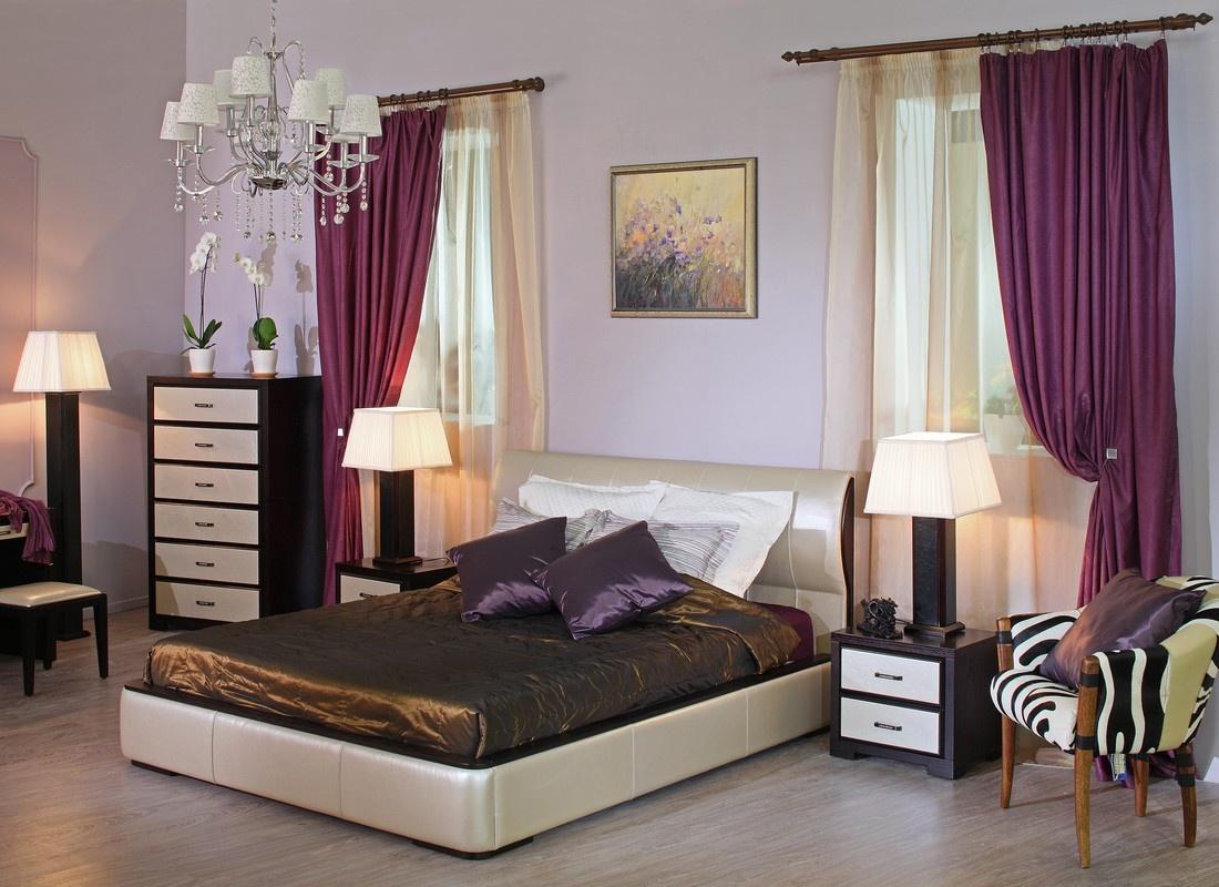 Спальня венге с белым цветом