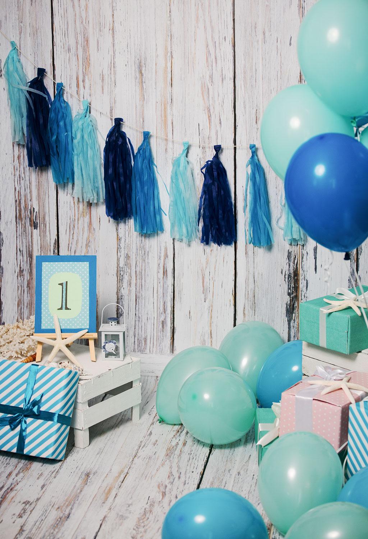 Оформление воздушными шарами в морском стиле