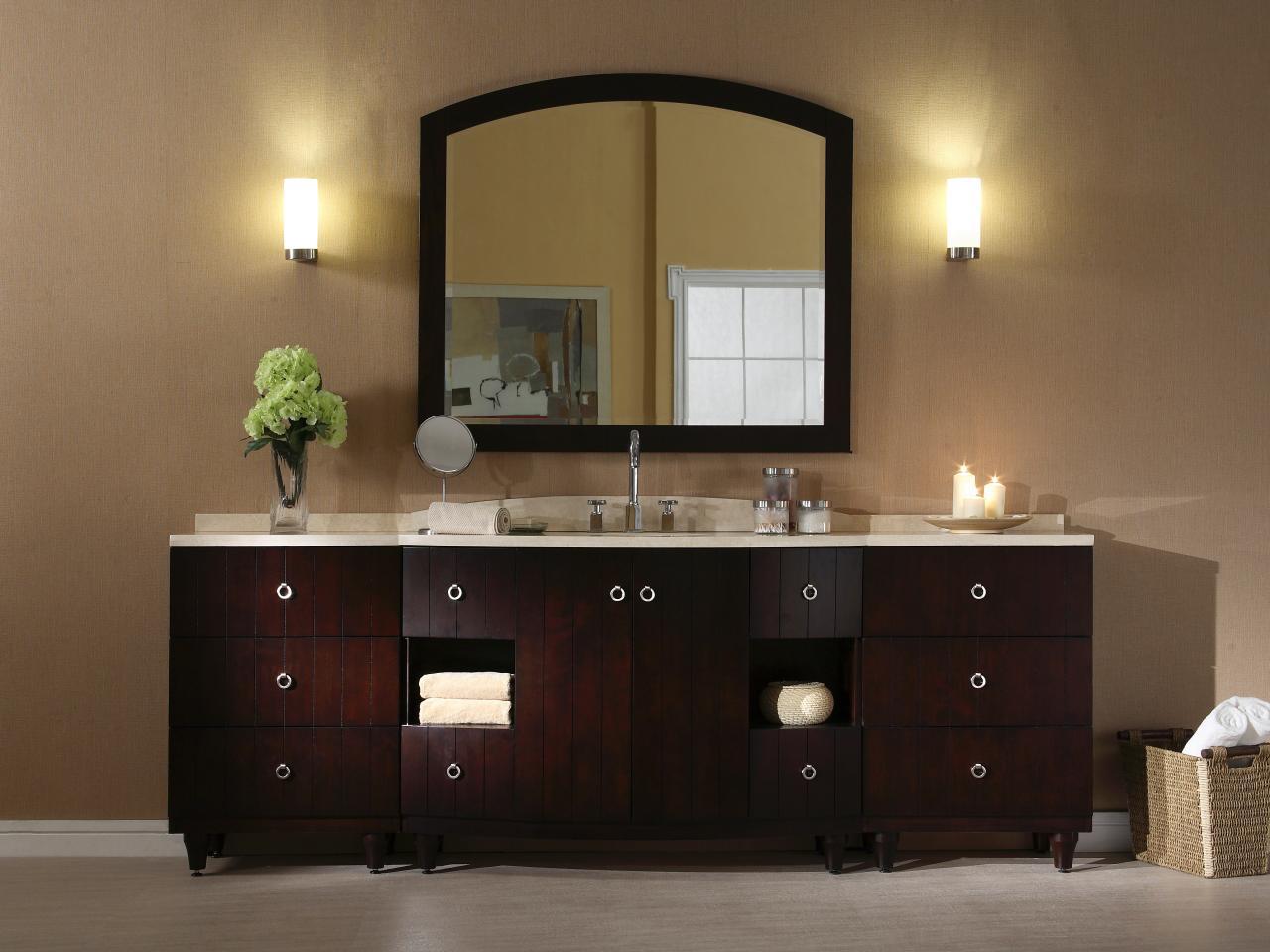Настенные светильники в ванной комнате