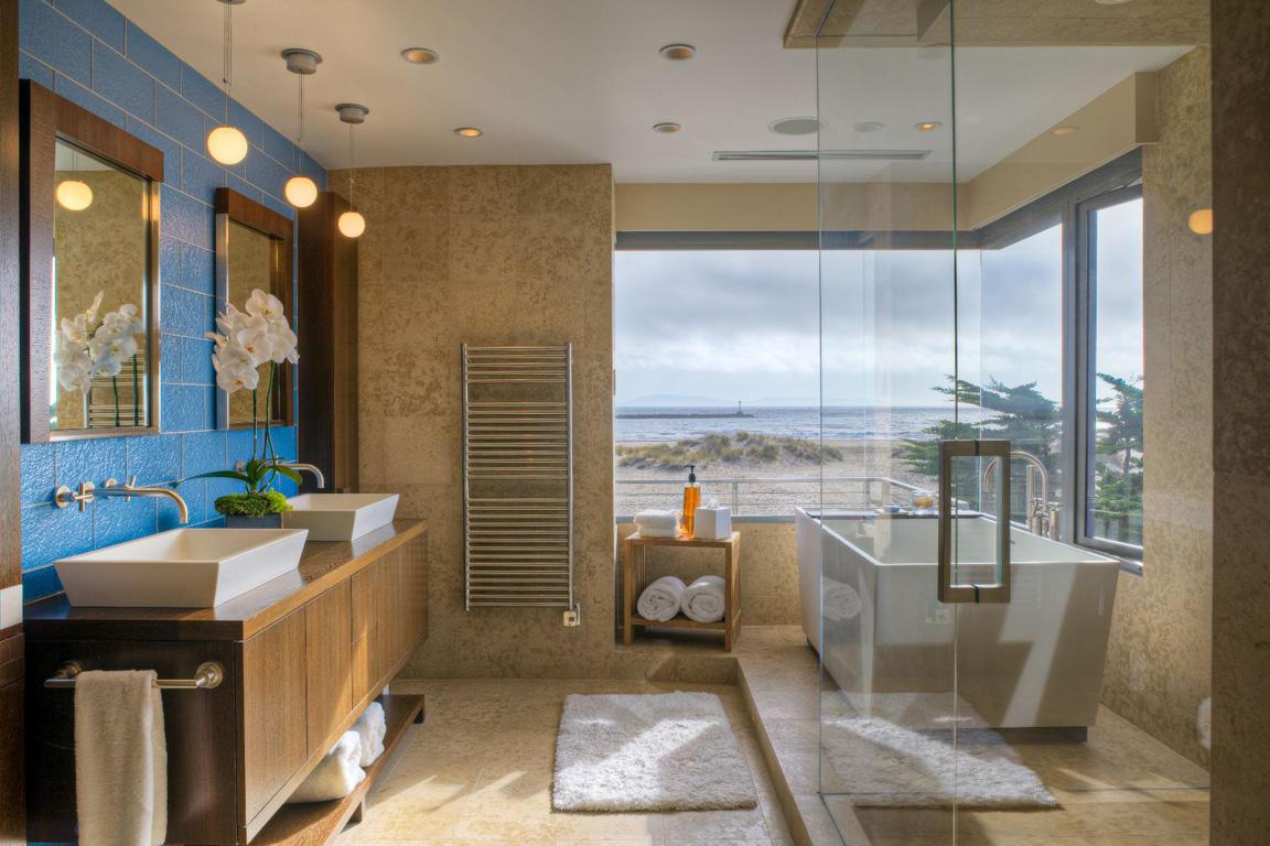 Отдельно стоящая прямоугольная ванна