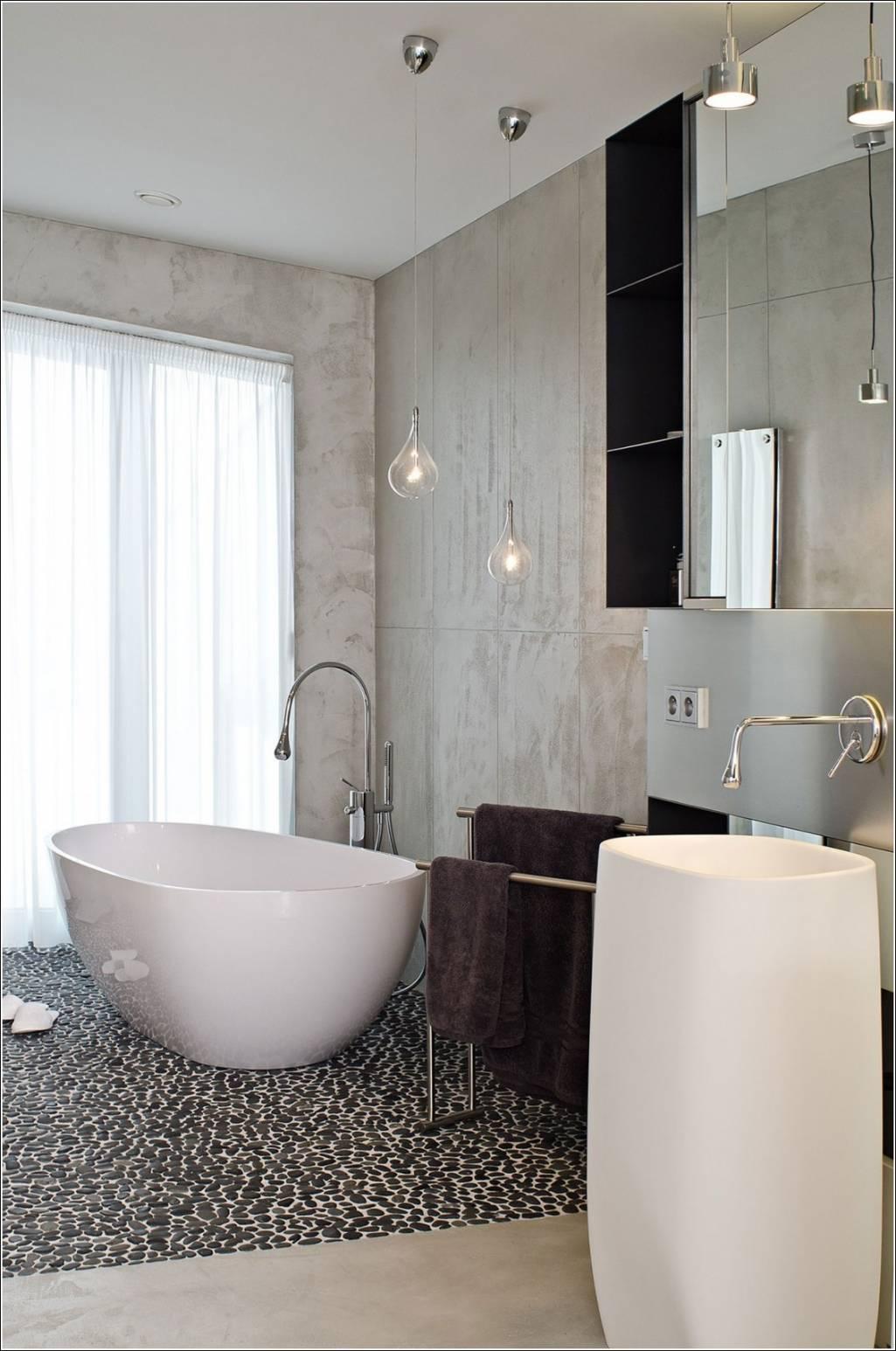 Отдельно стоящая овальная ванна