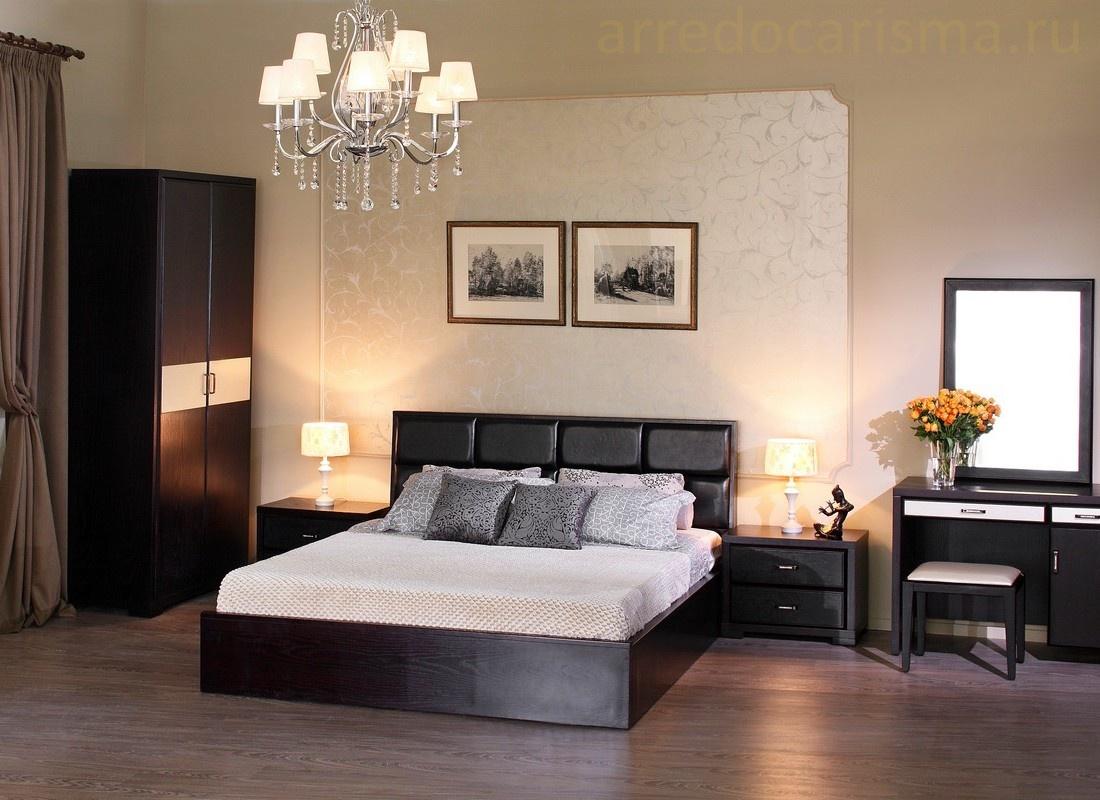 Спальня оттенка венге