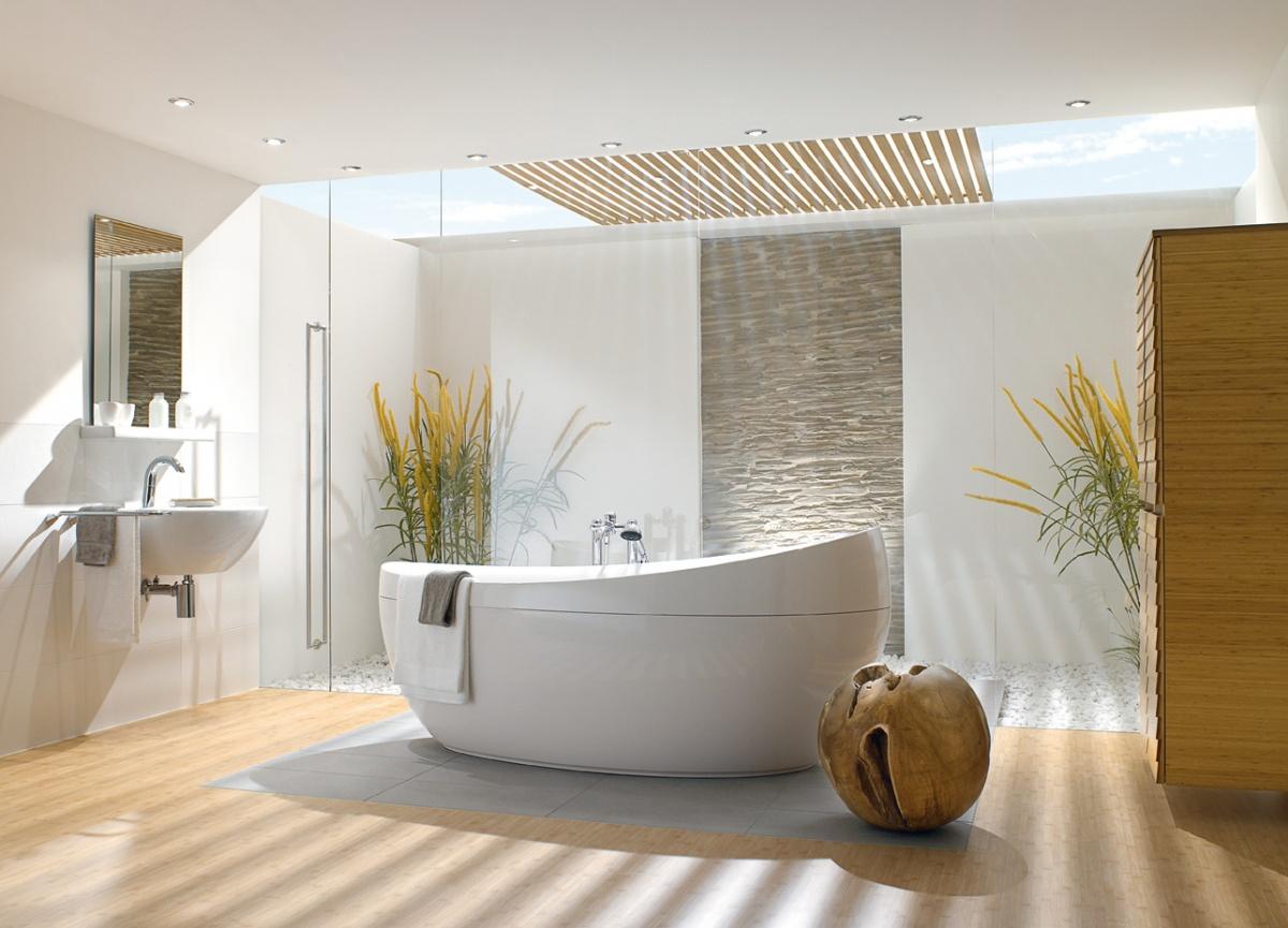 Овальная ванна с подголовником