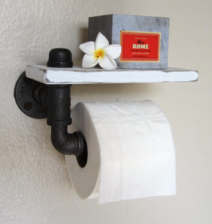 Держатель для туалетной бумаги с полочкой