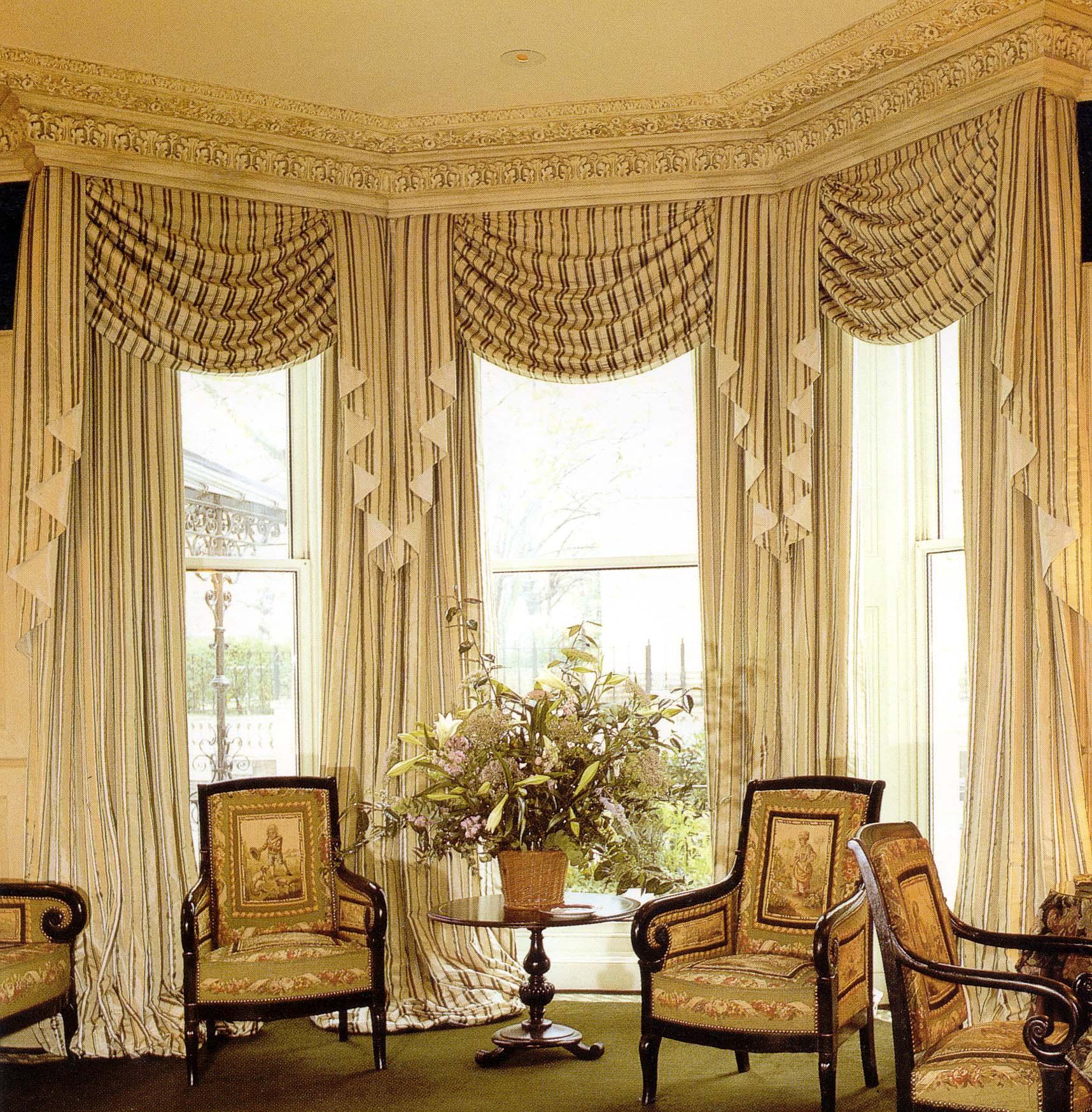 Классические полосатые шторы