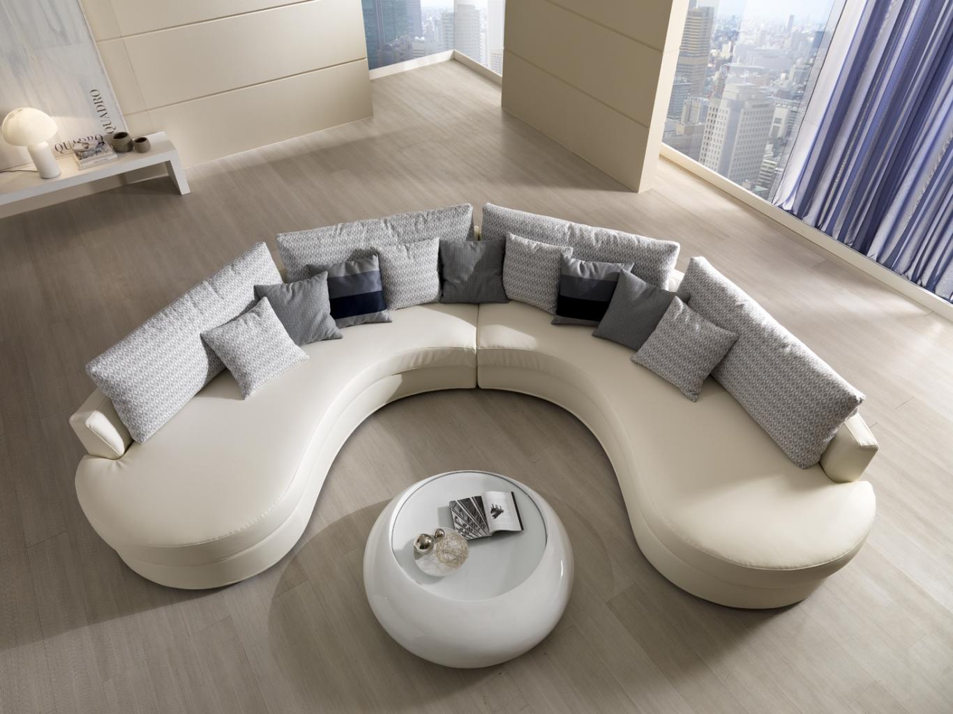 Полукруглый диван без подлокотников