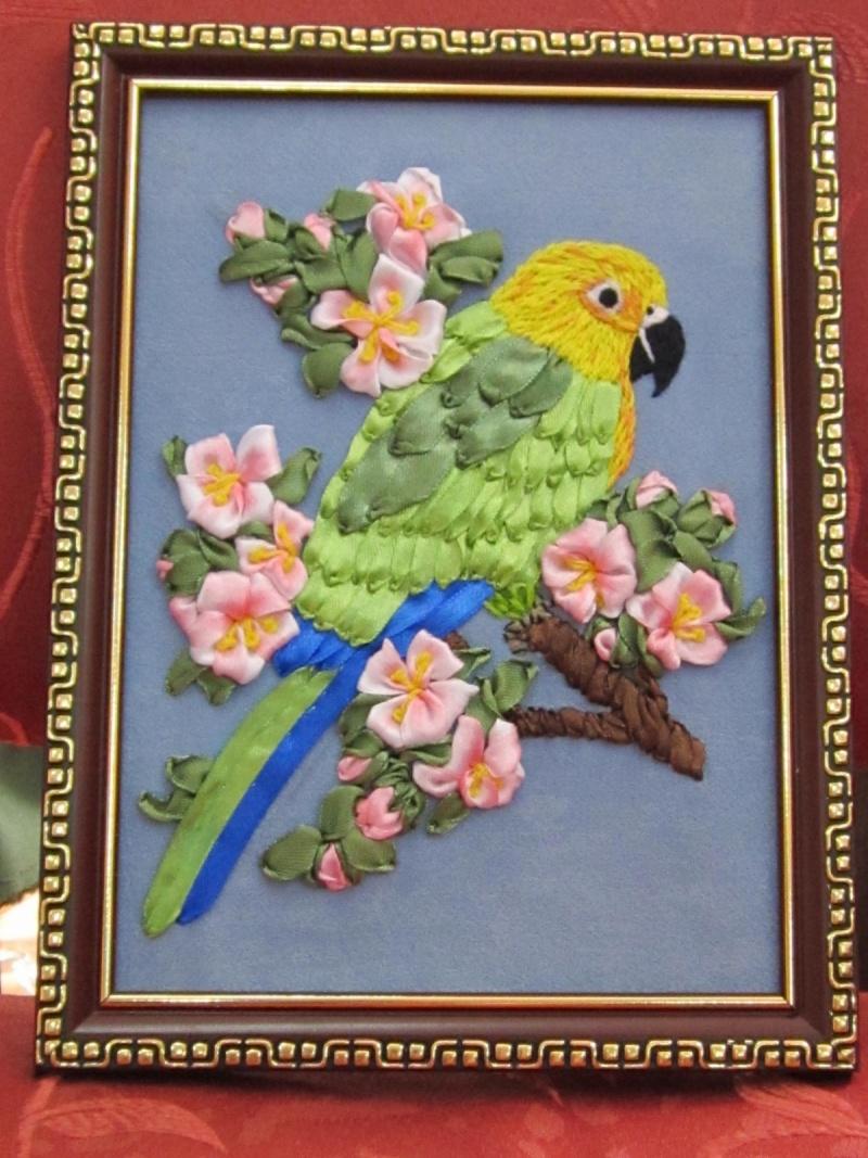 Попугай из ткани