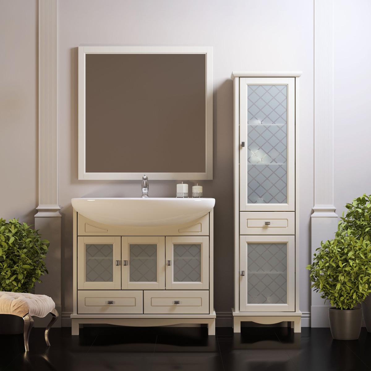 Шкаф в стиле прованс для ванной