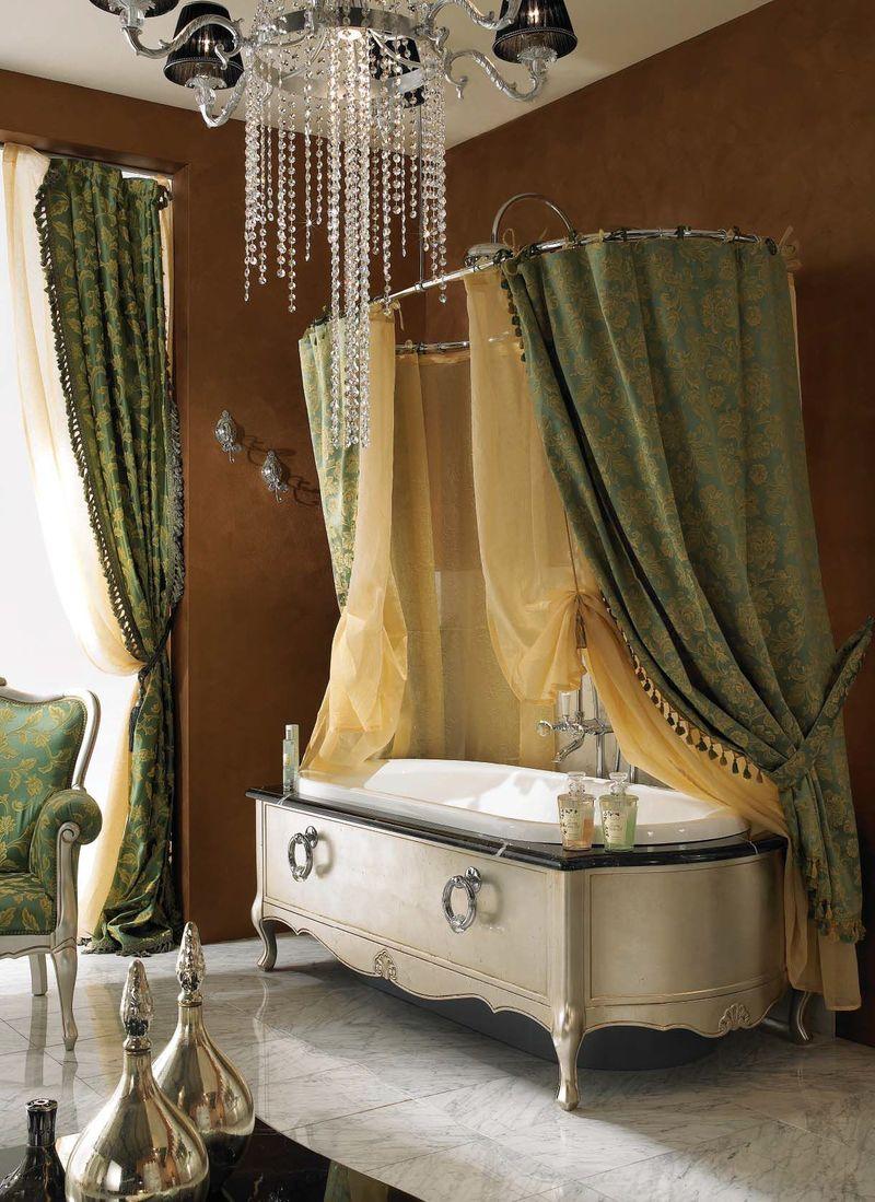 Овальная ванна в стиле прованс