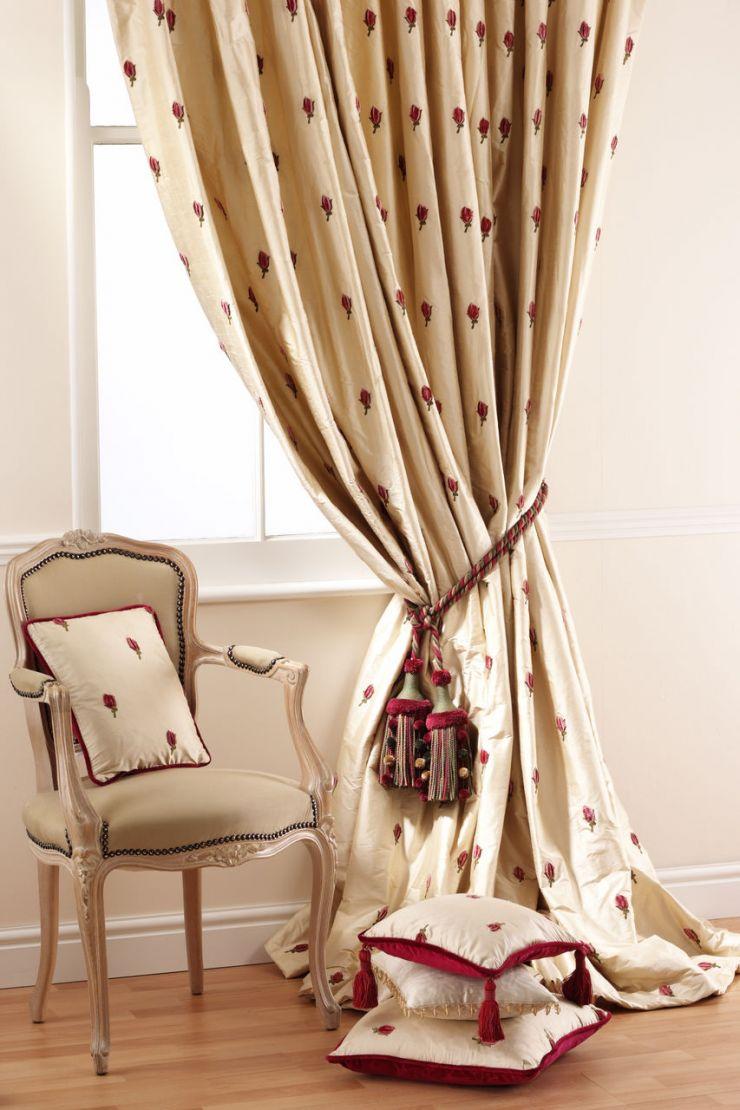 Классические шторы в стилистике прованса