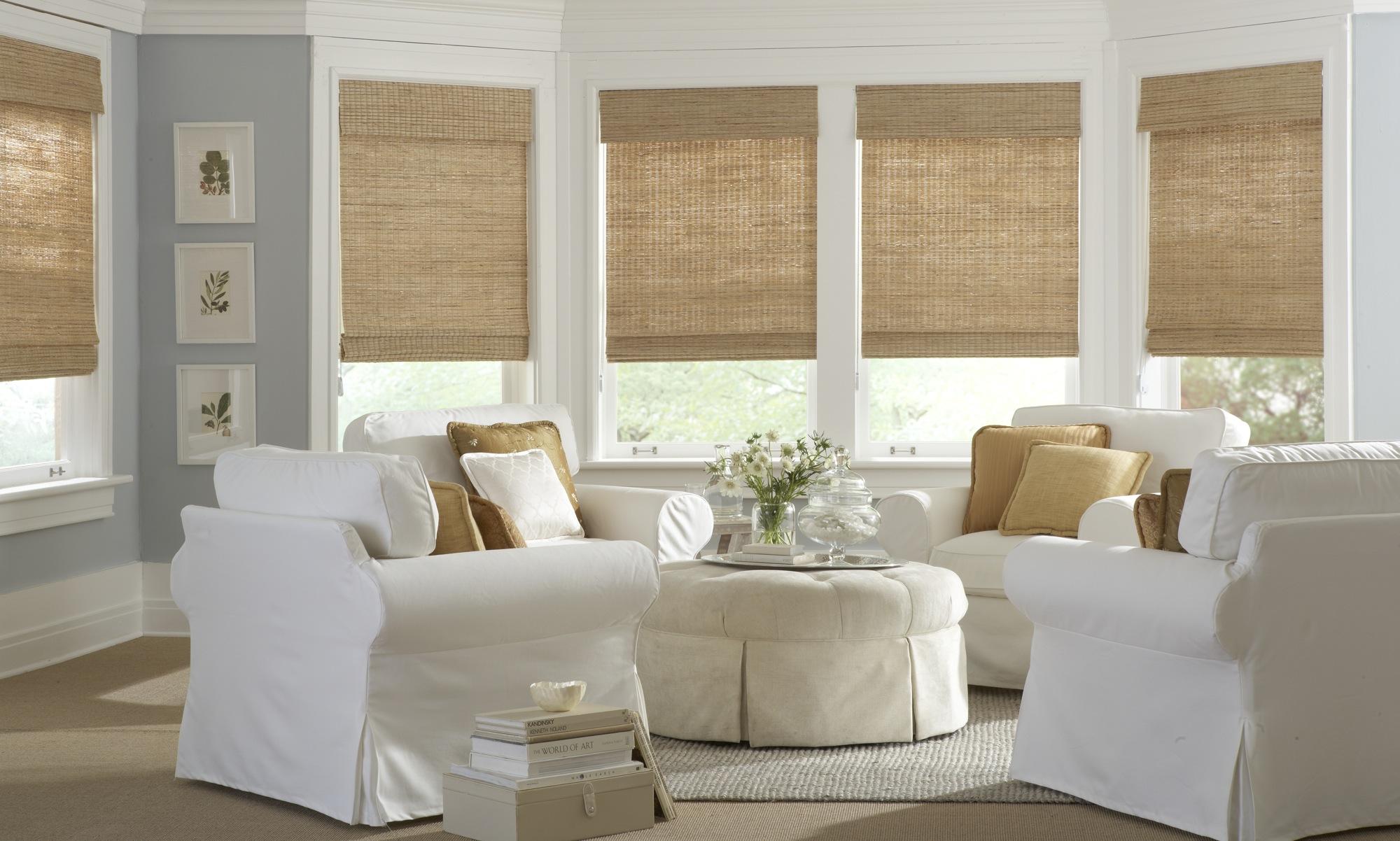 Бамбуковые шторы в стиле прованс