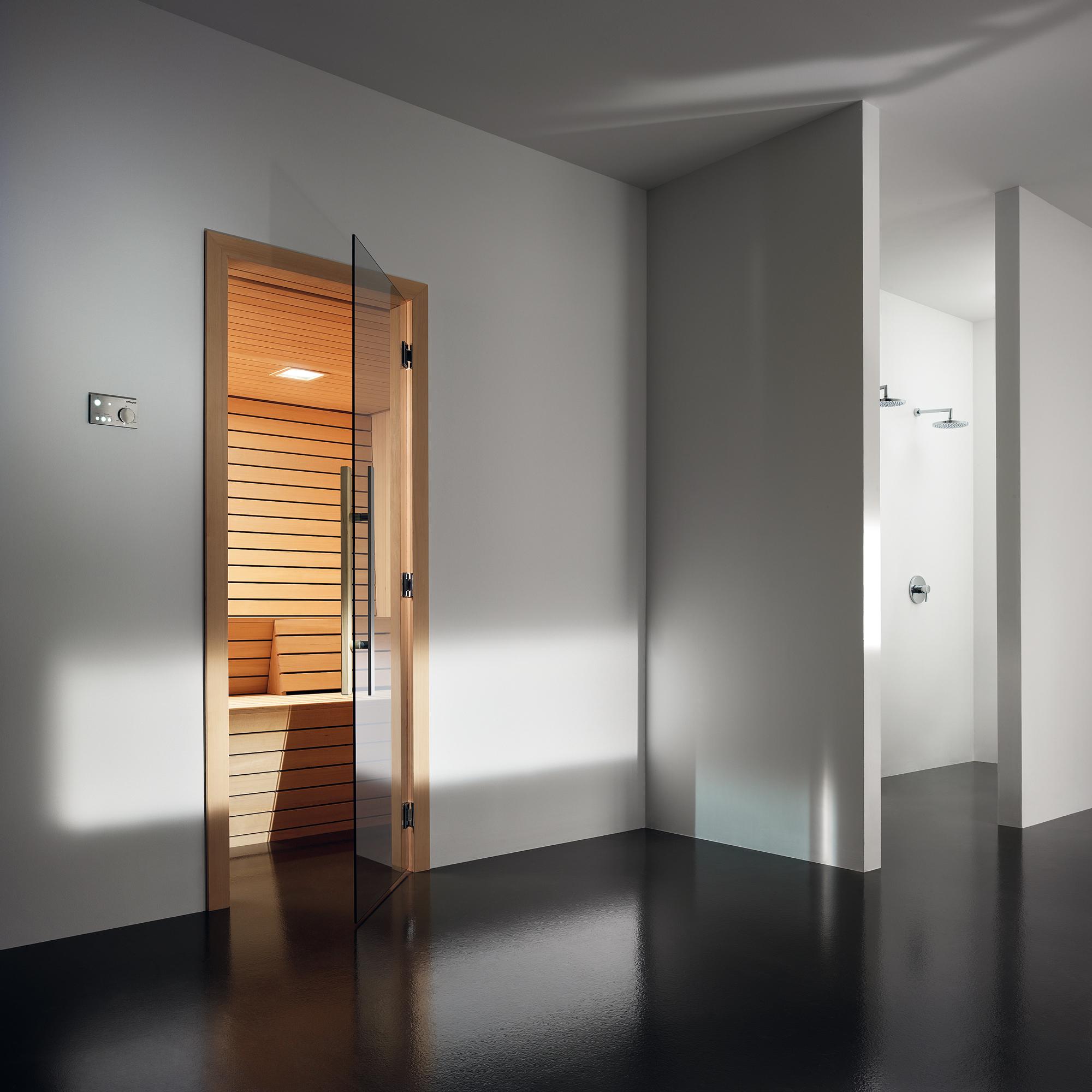 Прозрачная дверь для сауны
