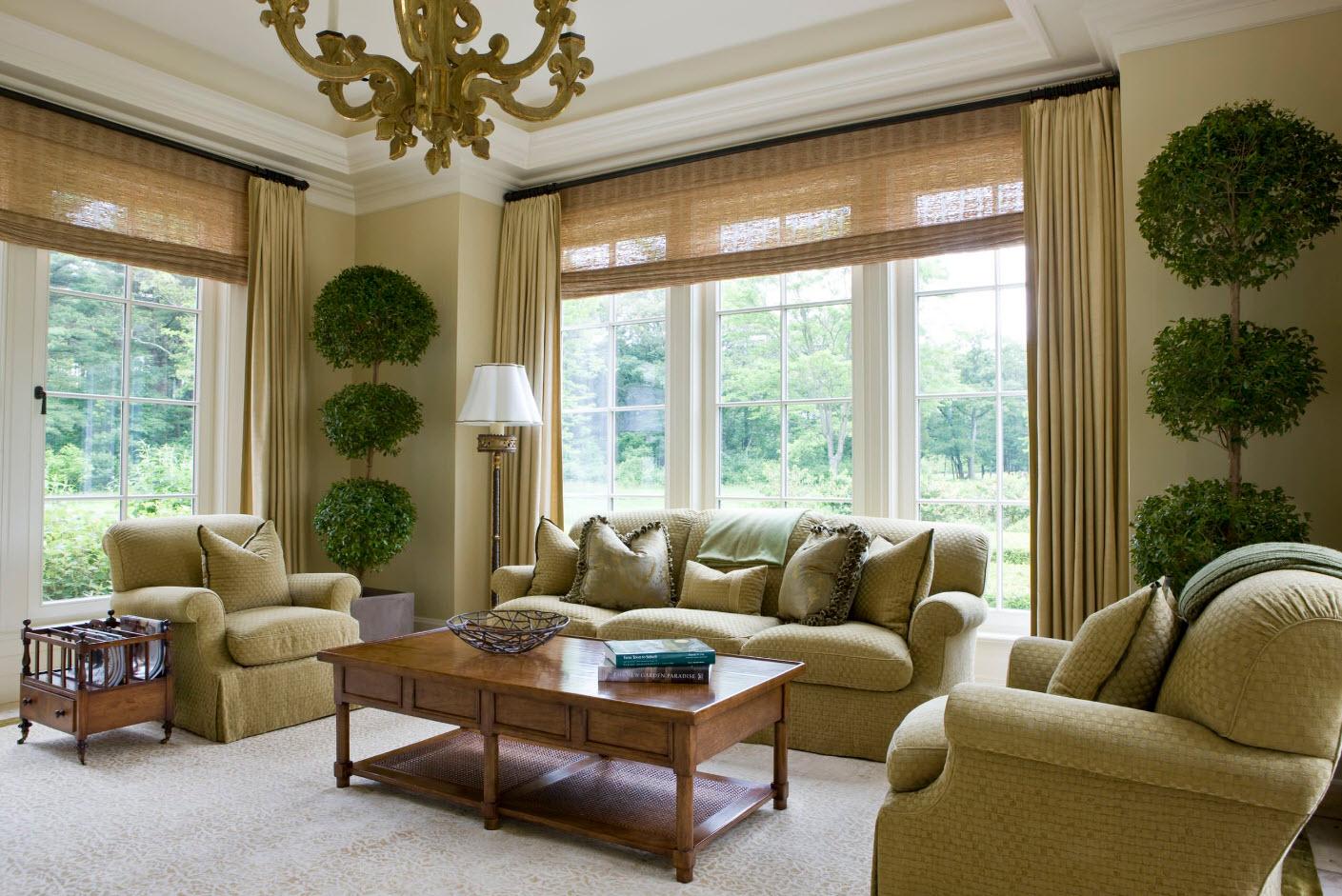 Бамбуковые прозрачные шторы