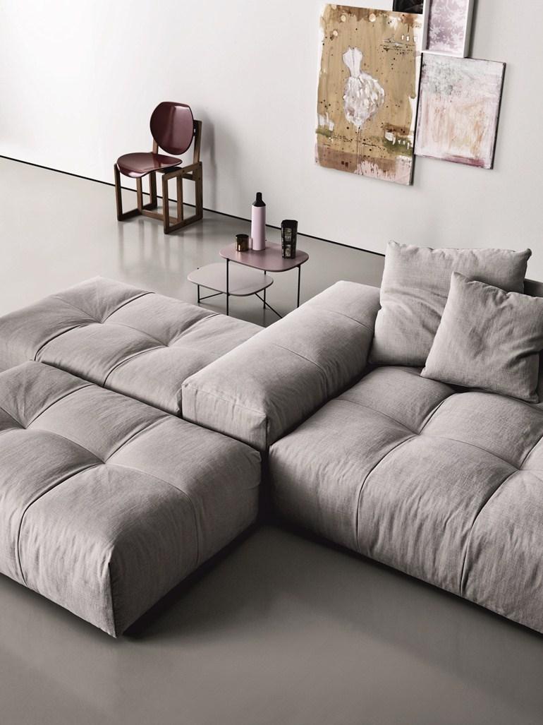 Модульный диван с пуфиком