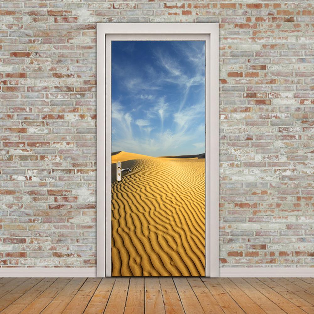 Дверь 3D с изображением пустыни