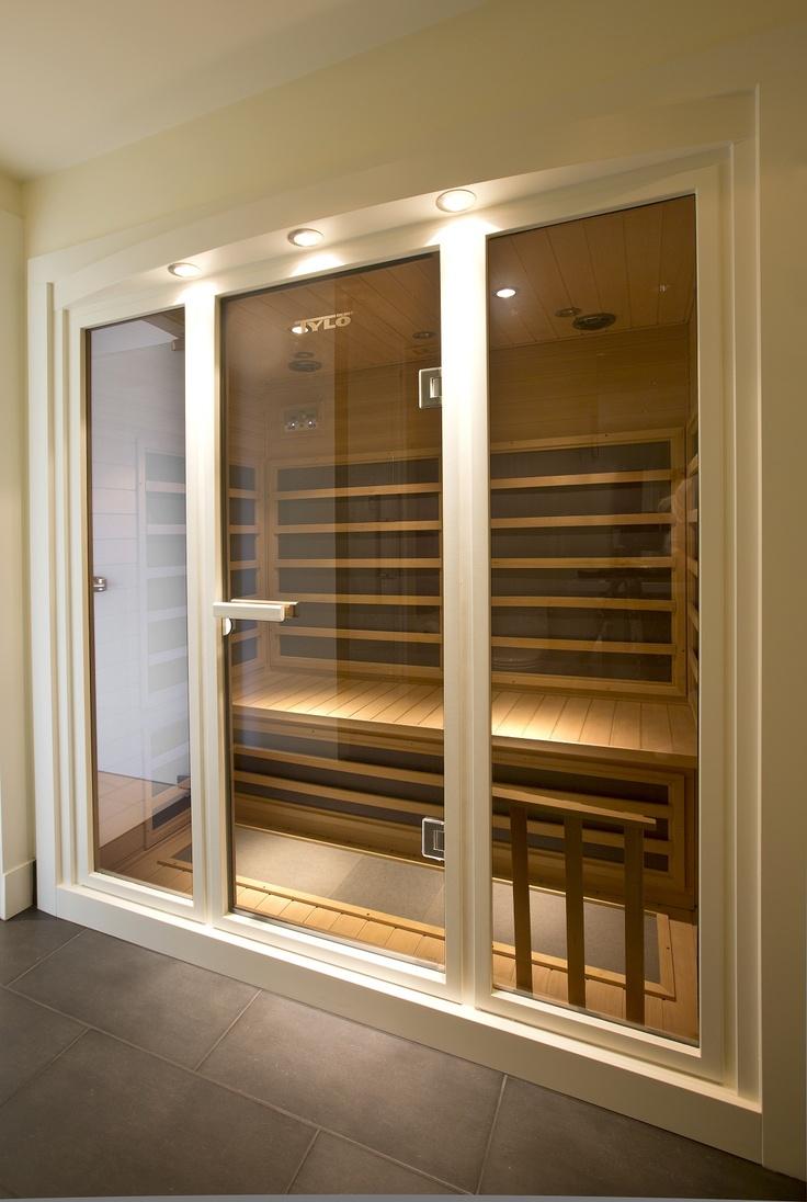 Распашная дверь для сауны