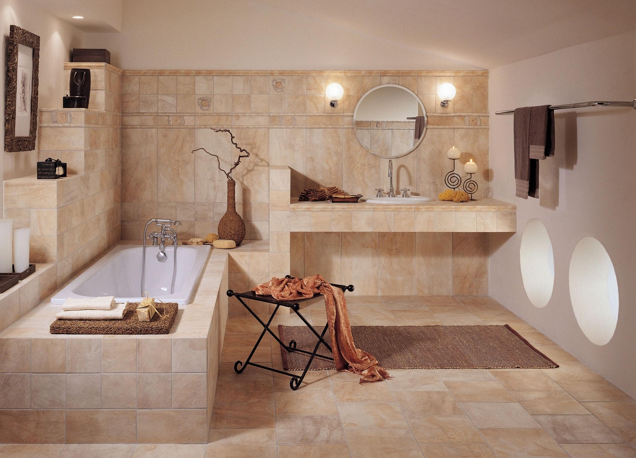 Прямоугольная ванна в римском стиле