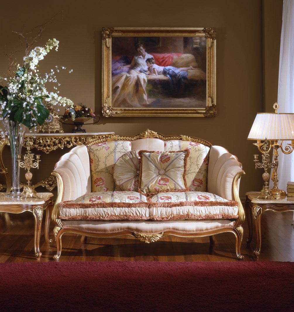 Французский диван в стиле рококо