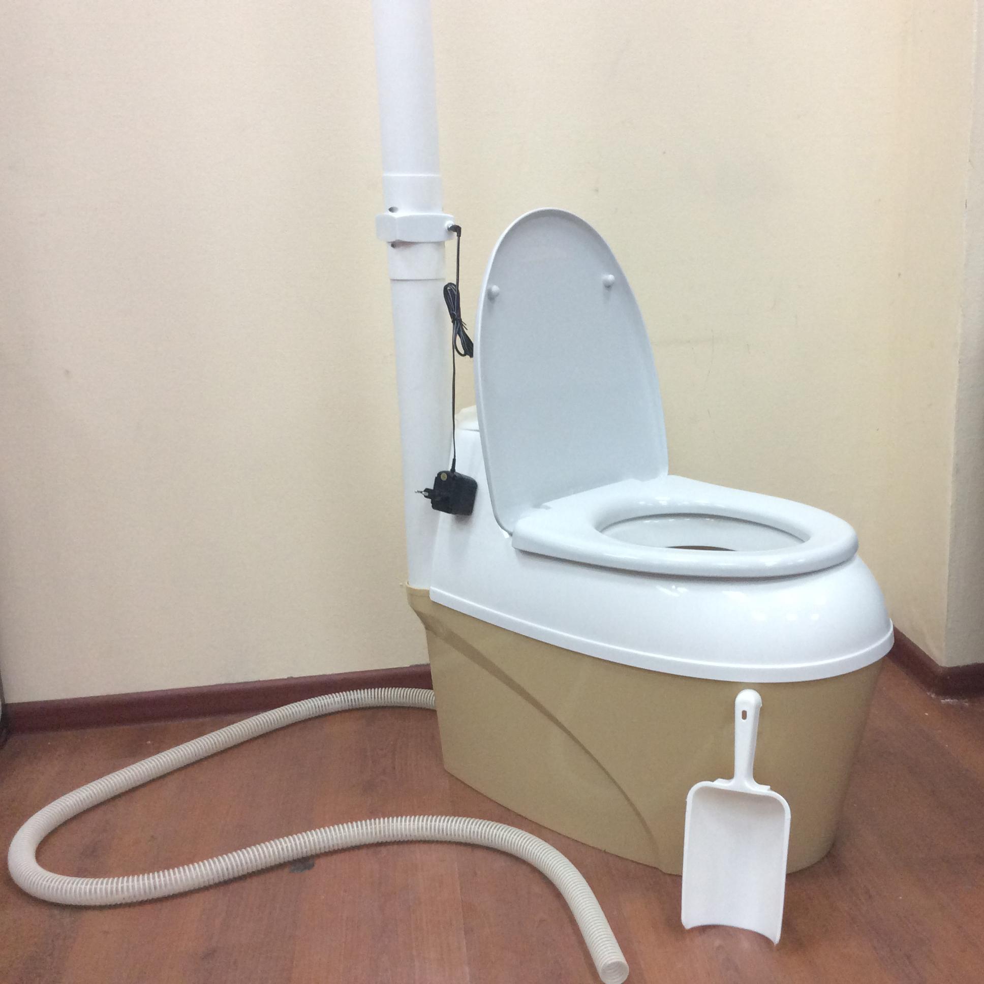 Торфяной туалет с ручной засыпкой