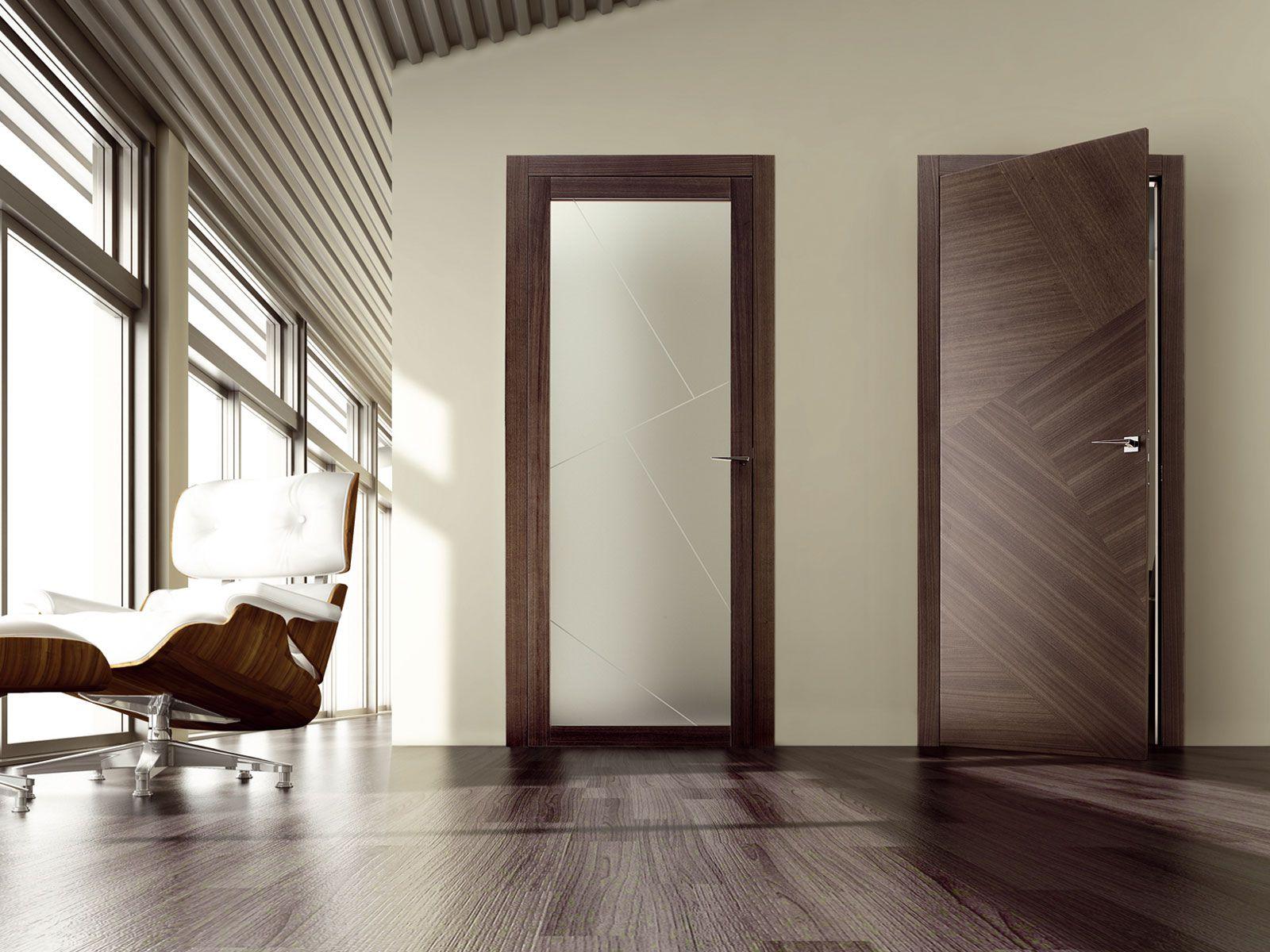 Серая дверь из экошпона