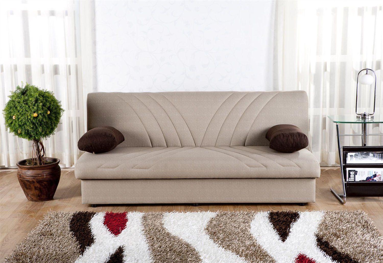 Серый диван без подлокотников