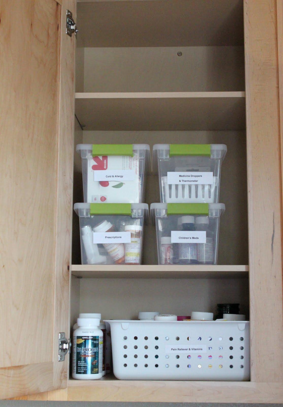 Хранение лекарств в шкафу